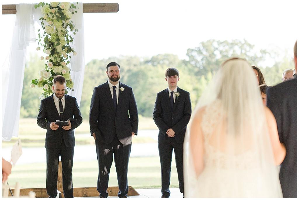 wedding processional at dodson farms chapel