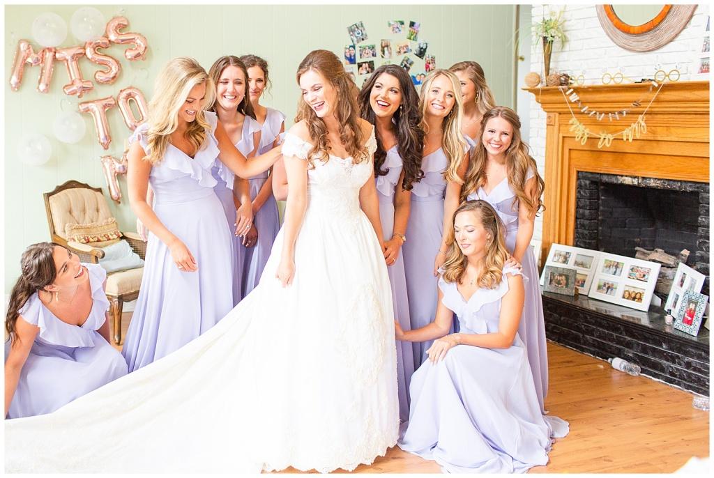 first look bridesmaids