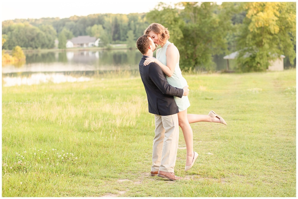 teal and navy engagement session