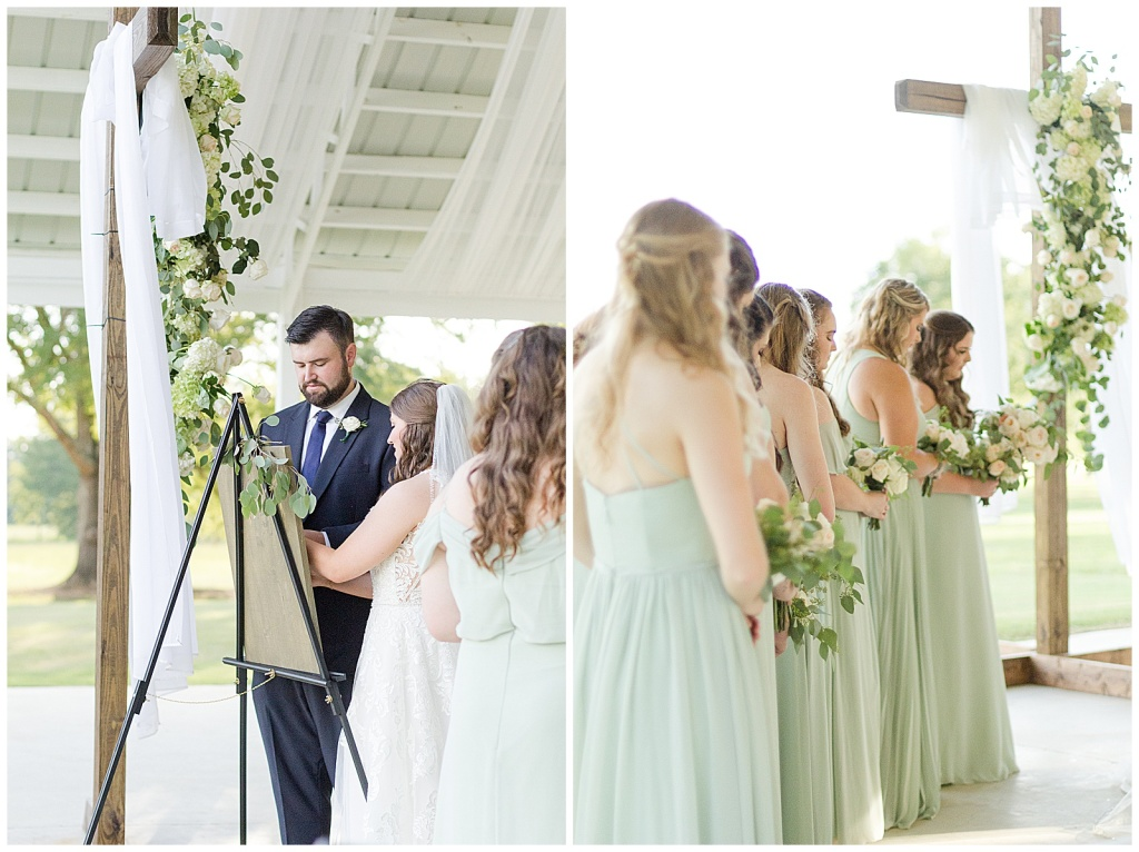 wedding ceremony at dodson farms chapel