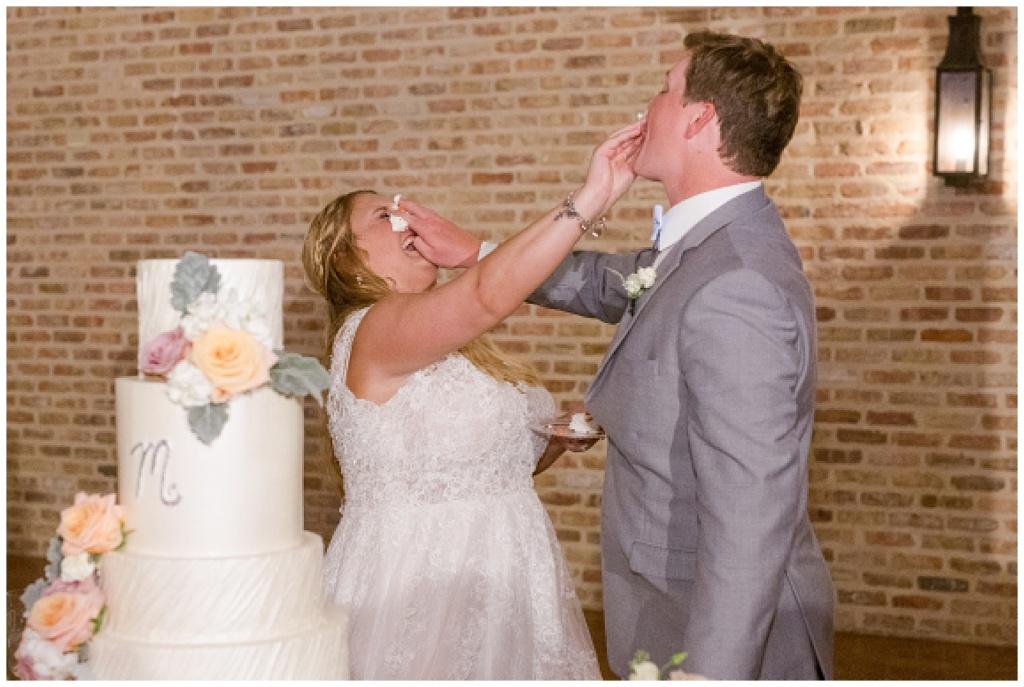 bridlewood reception wedding cake smash