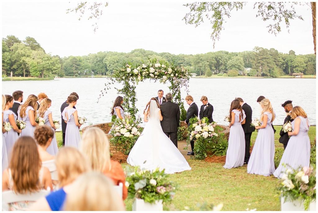 backyard wedding on lake lorman