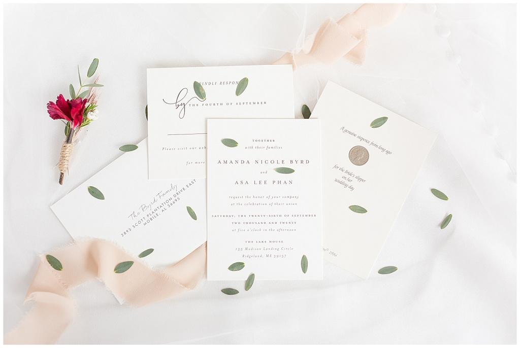 lake house wedding invitation suite