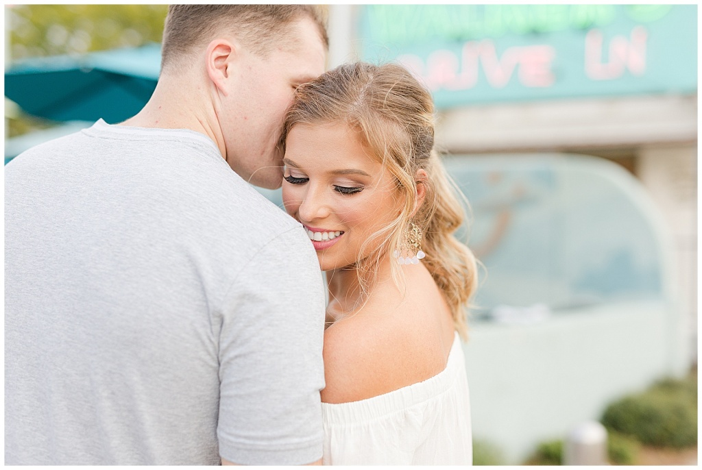 walker's drive-in engagement session