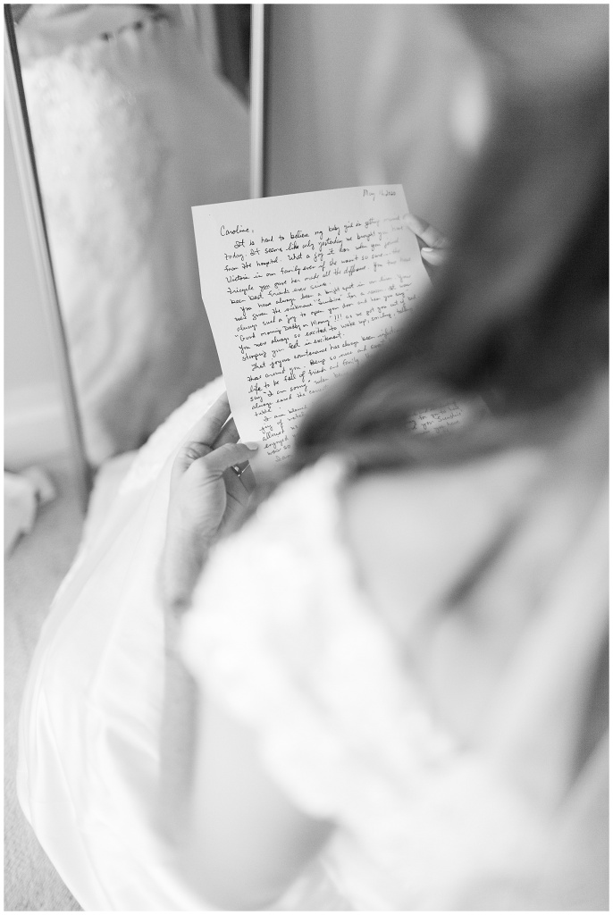letter from groom
