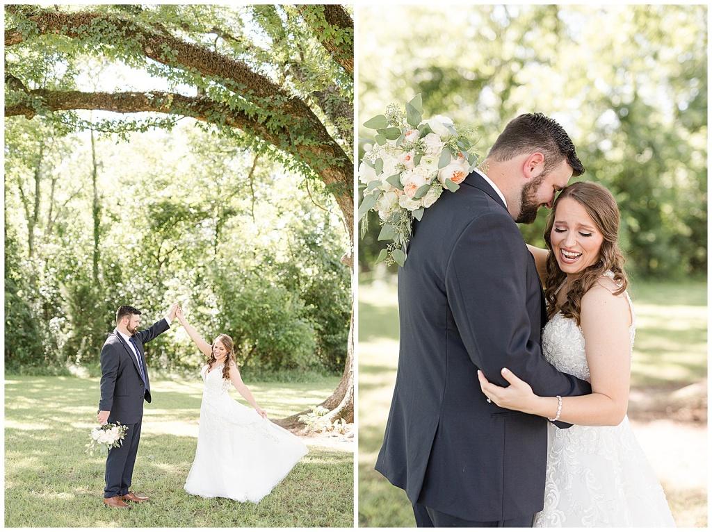 joyful bride & groom portraits
