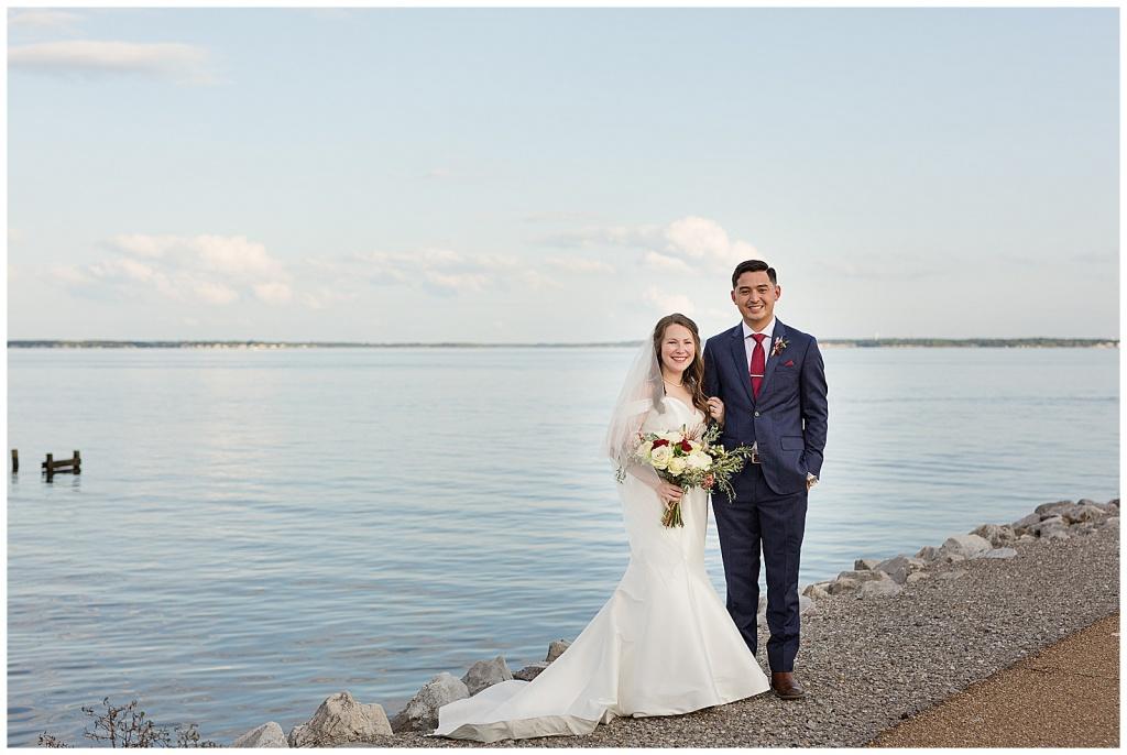 lake house wedding portraits