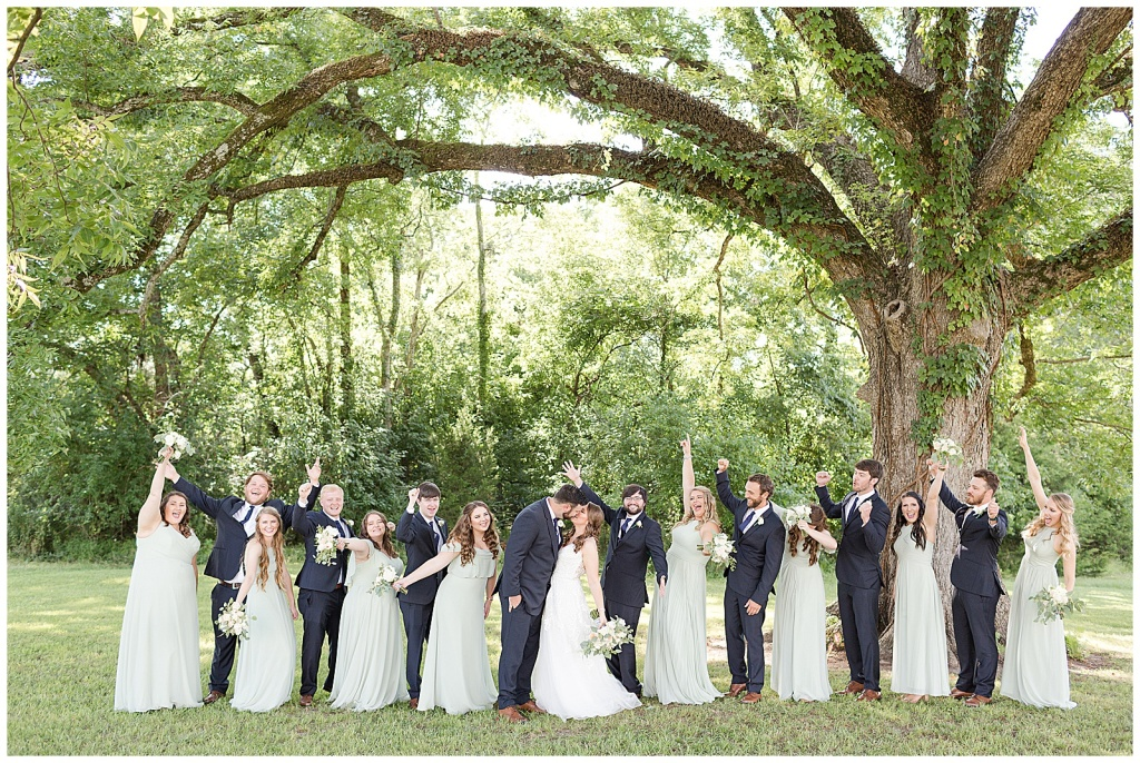 joyful bridal party photos