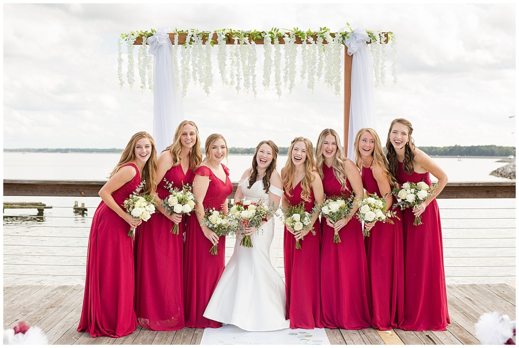 lake house bridal party