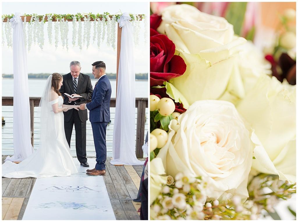 lake house wedding ceremony