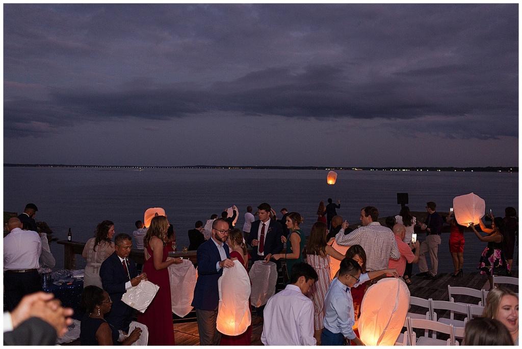 lake house wedding reception