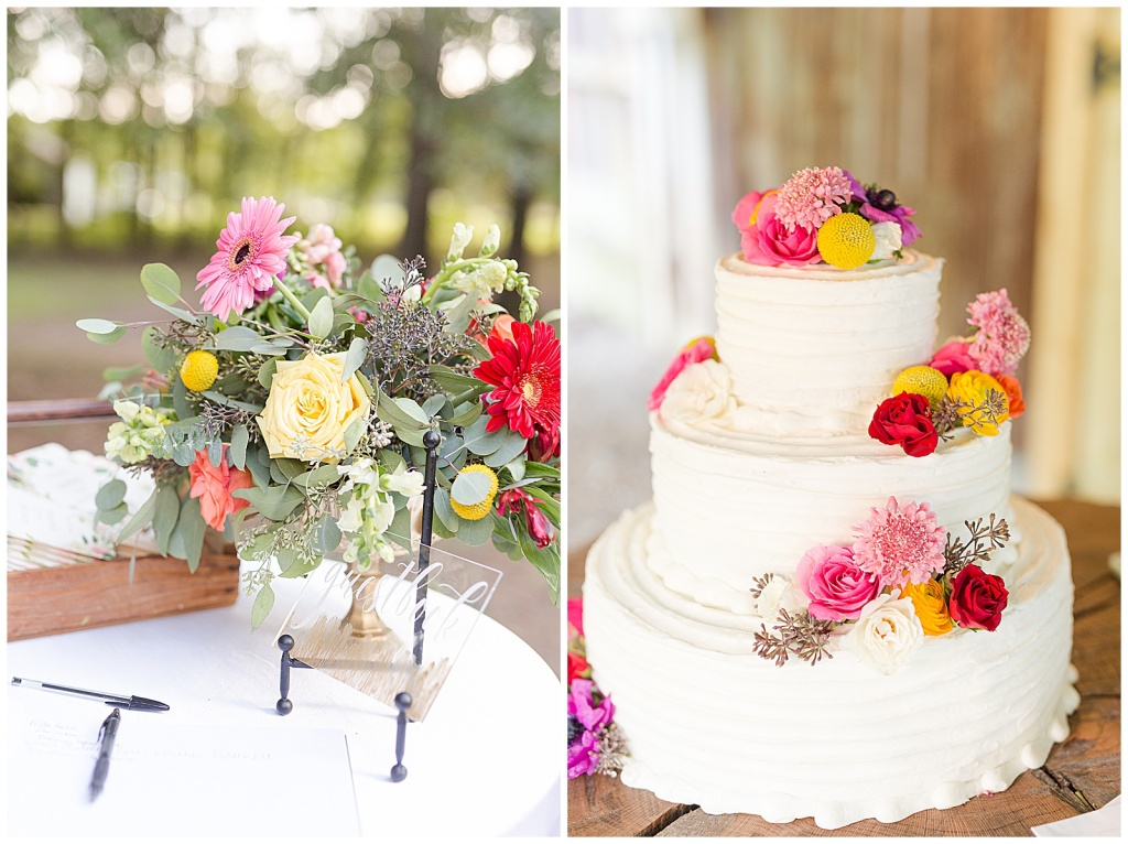 boho wedding florals