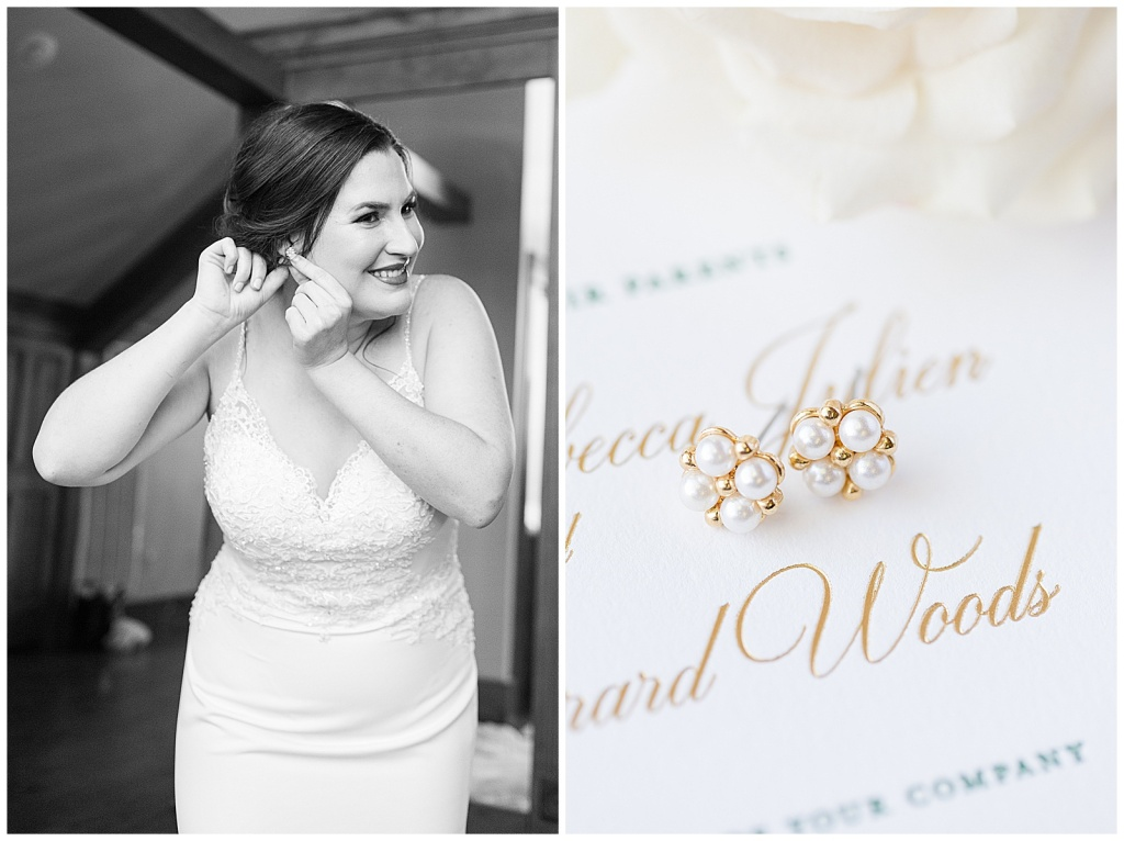 pear bridal earrings